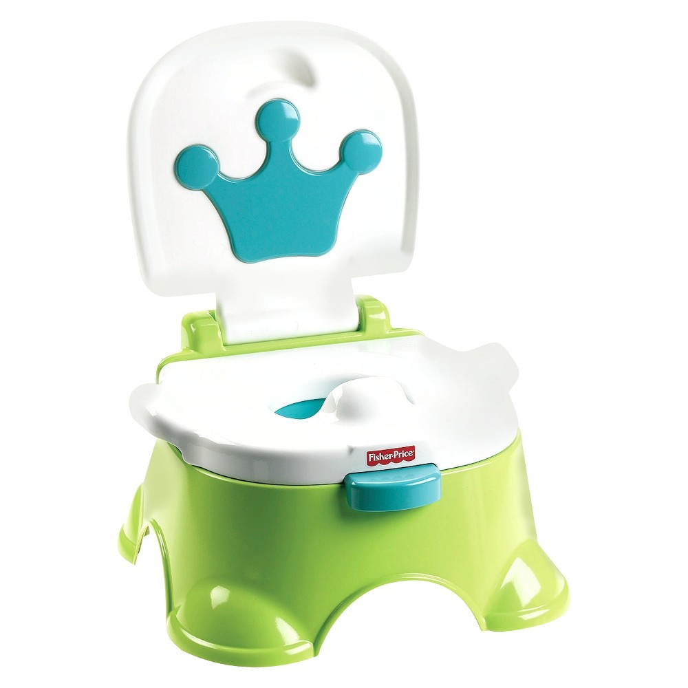 Image of Fisher-Price Stepstool Potty - Green, White