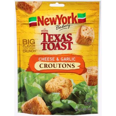 New York Bakery The Original Texas Toast Croutons Cheese & Garlic - 5oz