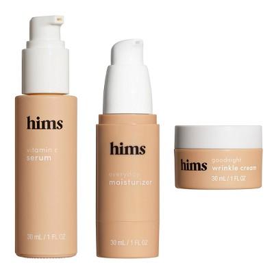 hims Skin Good Night Wrinkle Cream + Morning Serum + Moisturizer Kit - 3pc