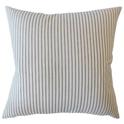 """Stripe 20""""x20"""" Square Throw Pillow White/Blue - Pillow Collection"""
