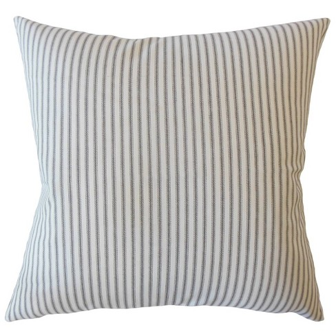 """Stripe 20""""x20"""" Square Throw Pillow White/Blue - Pillow Collection - image 1 of 2"""