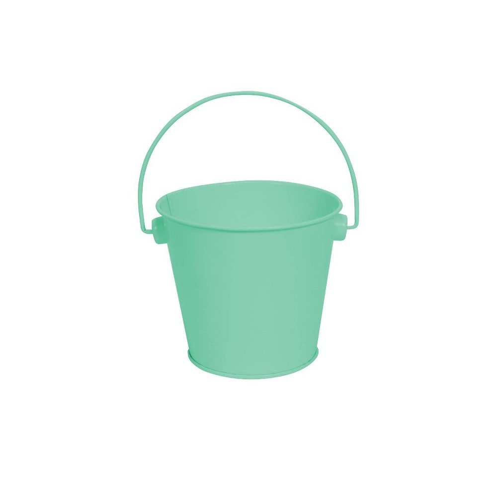 Image of 1ct Metal Pail Turquoise - Spritz , Blue