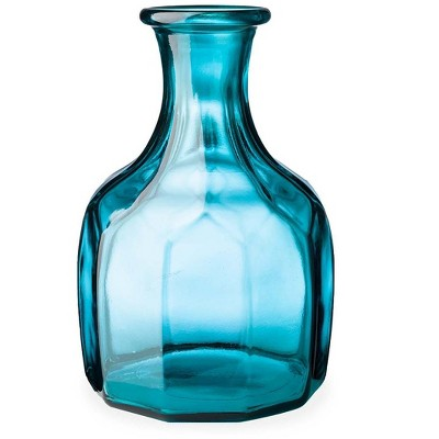 VivaTerra Zeta Geometric Recycled Glass Vase