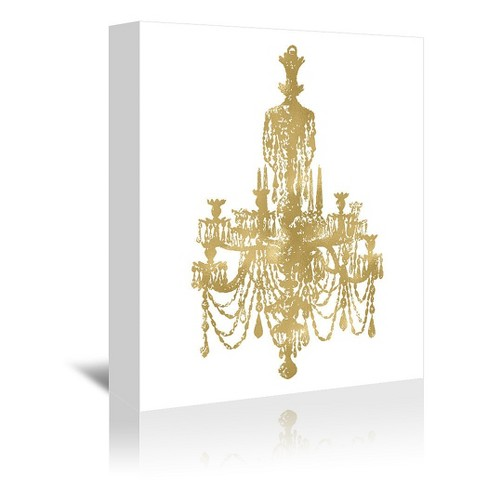 Amy Brinkman Wrapped Canvas Wall Art, Chandelier Wall Decal Target