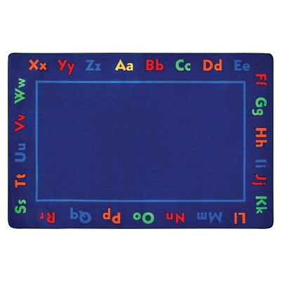6'x9' Rectangle Woven Nylon Accent Rug Blue - Carpets For Kids