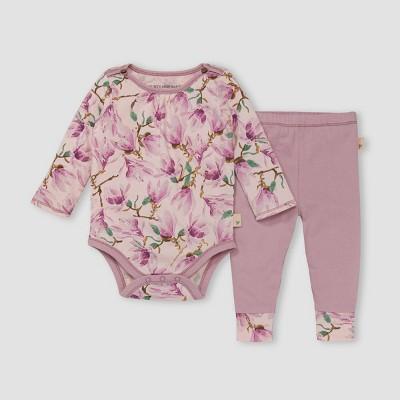 Burt's Bees Baby® Baby Girls' Magnificent Magnolias Bodysuit & Pants Set - Blush Pink