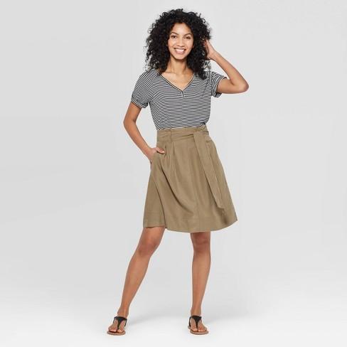 50e0e312f3f8cf Women's High-Rise Paperbag Mini Skirt - A New Day™ : Target