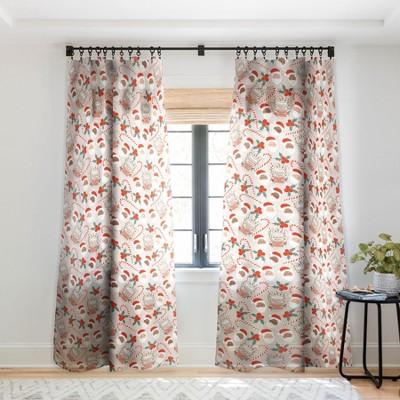 Dash And Ash Peppermint Mocha Single Panel Sheer Window Curtain - Society6