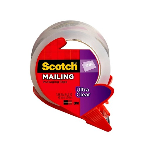 """Scotch Ultra Clear Mailing Packaging Tape with Dispenser 1.88"""" x 54yd - image 1 of 4"""