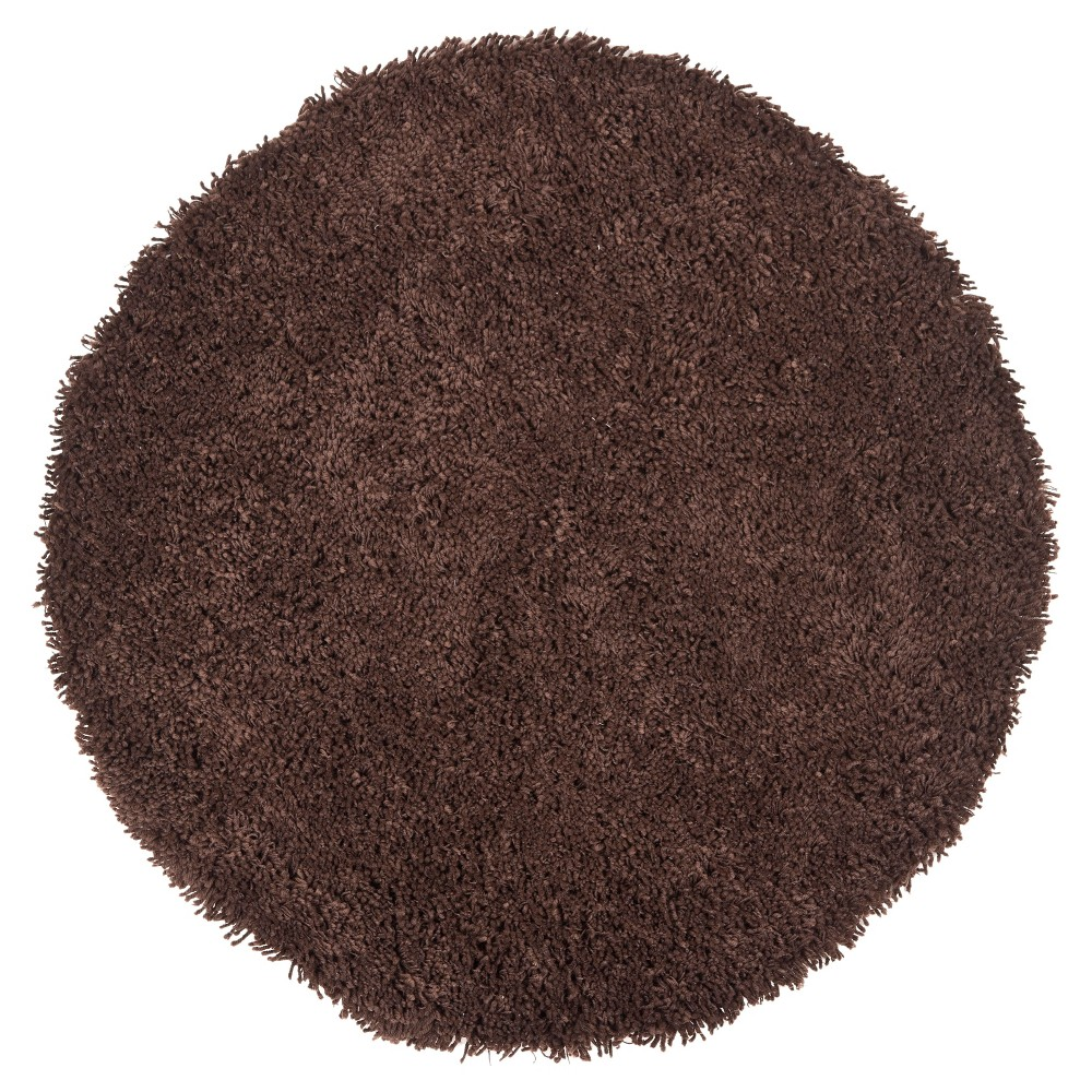 Chocolate (Brown) Solid Tufted Round Area Rug - (6' Round) - Safavieh