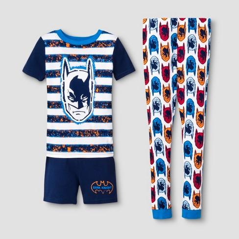 Boys' Batman 3pc Pajama Set - Blue - image 1 of 1