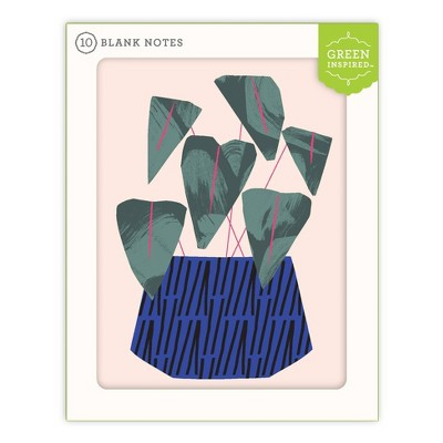 10ct Blank Note Cards House Plant
