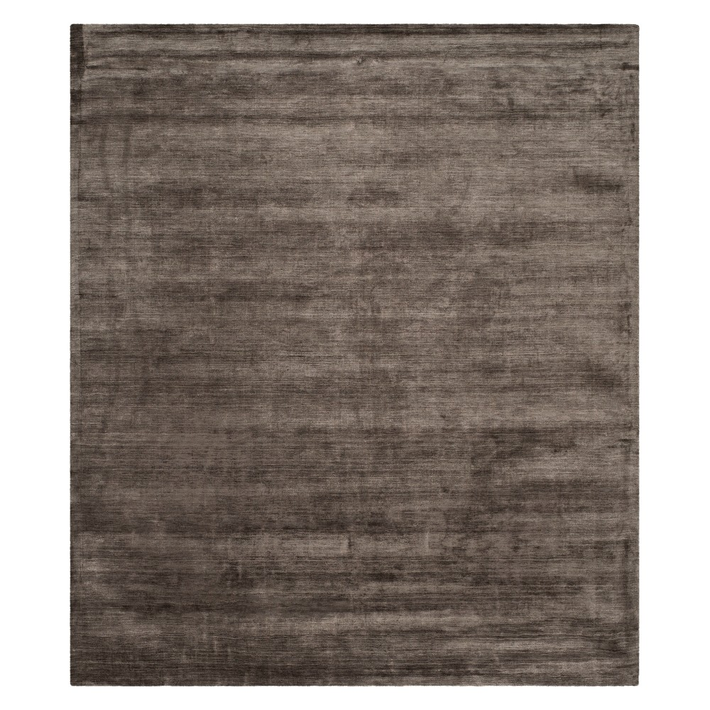 8'X10' Solid Area Rug Charcoal (Grey) - Safavieh
