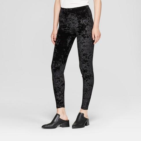 59da662702540e Women's Crushed Velvet Hosiery Leggings - Xhilaration™ Black L : Target