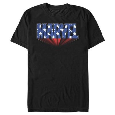 Men's Marvel Classic American Star Logo T-Shirt