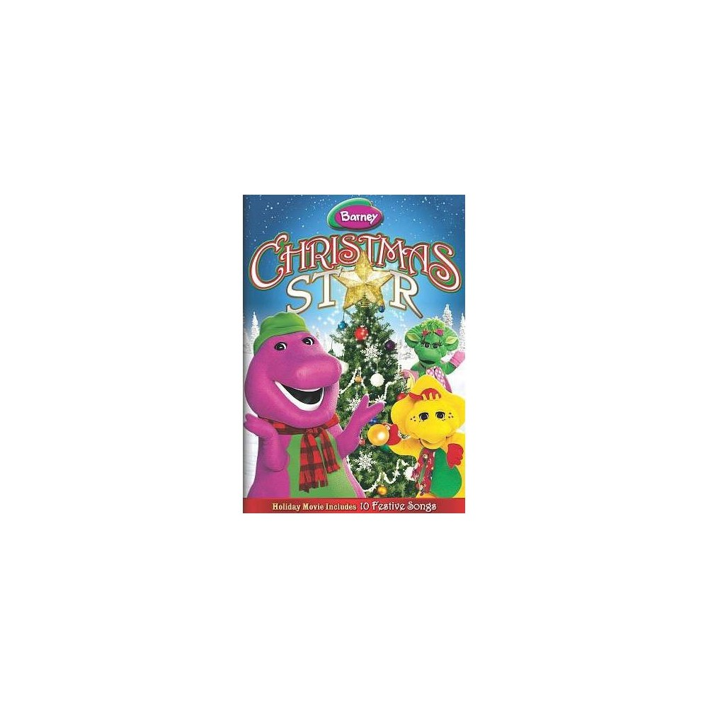 Barney:Christmas Star (Dvd) Barney the purple dinosaur celebrates the holidays with his friends, and while decorating the tree they notice that the only thing missing is the star for the top of the tree. While searching through Grandma's attic they discover many treasures -- little drummer boys, antique typewriters -- and they all celebrate and reenact  The Night Before Christmas  as a grand finale.