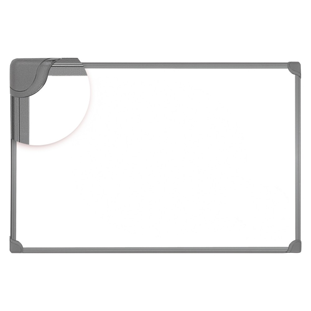 Universal Design Series Magnetic Steel Dry Erase Board, 48 x 36, White, Black Frame