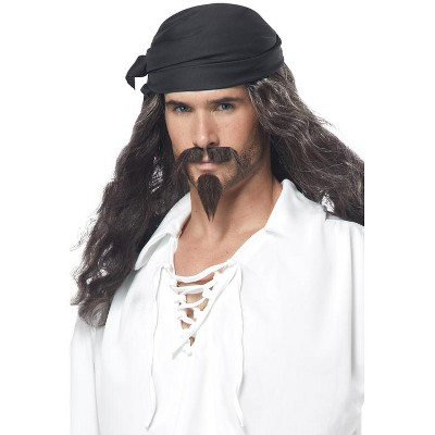 California Costumes Pirate Wig with Moustache and Chin Patch Set
