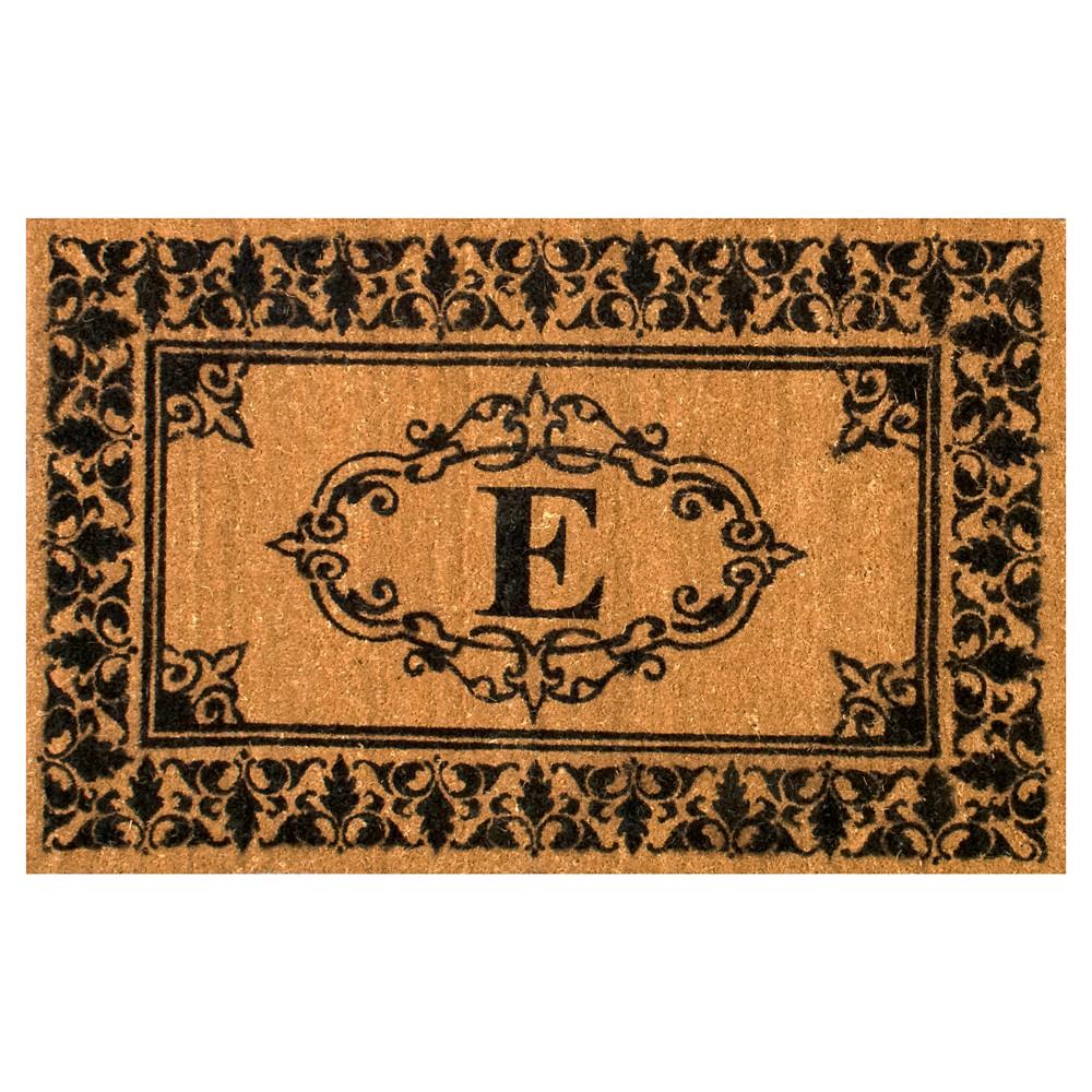 Light Brown Monogram Woven Doormat - (3'x5') - nuLOOM, Light Brown - E