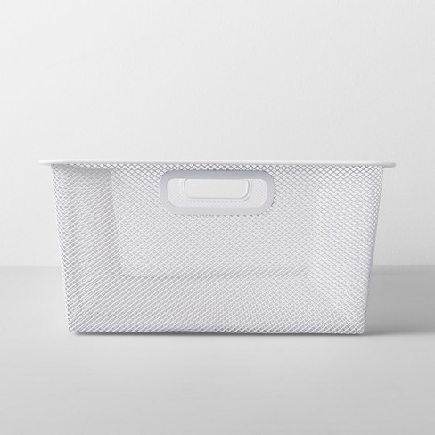 Large Metal Underbed Bin 6.25W X 12.75D X 25.75H White - Made By Design™ - image 1 of 6