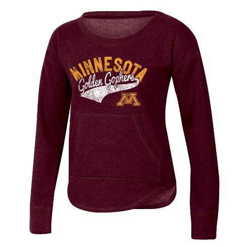 NCAA® Women's Campfire Long Sleeve Crewneck Fleece Shirt Minnesota Golden Gophers - image 1 of 1