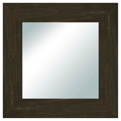 Square Reclaimed Wood Decorative Wall Mirror Charcoal - PTM Images - image 1 of 1