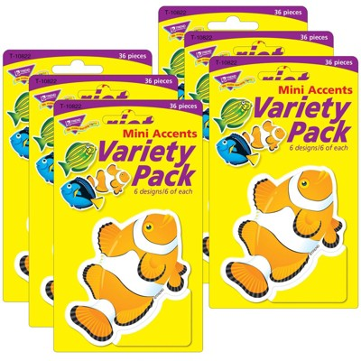 6pk 36 per Pack Fish Mini Accent Variety Pack - TREND