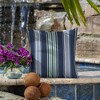 2pk Square Aurora Stripe Outdoor Throw Pillows Sapphire - Arden Selections - image 2 of 4