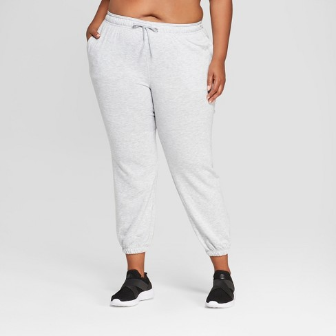 7babbb31dc63e Women s Plus Size Authentic French Terry Student Athlete Jogger Pants 29