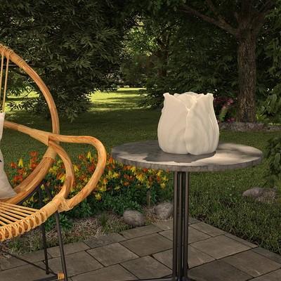 "Cosco 8"" Resin Outdoor Tulip Light Sculpture"