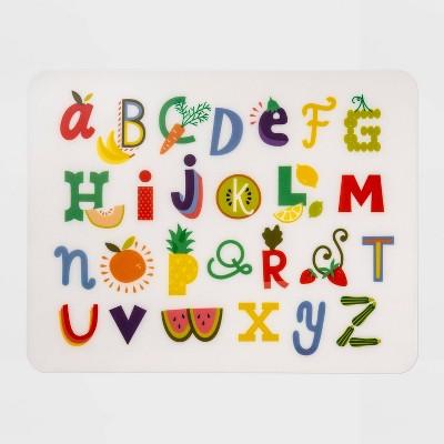 """18"""" x 14"""" Plastic Alphabet Placemat - Pillowfort™"""