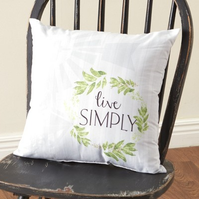 """Lakeside Live Simply Sentiment Message 16"""" Accent Throw Pillow for Indoors"""
