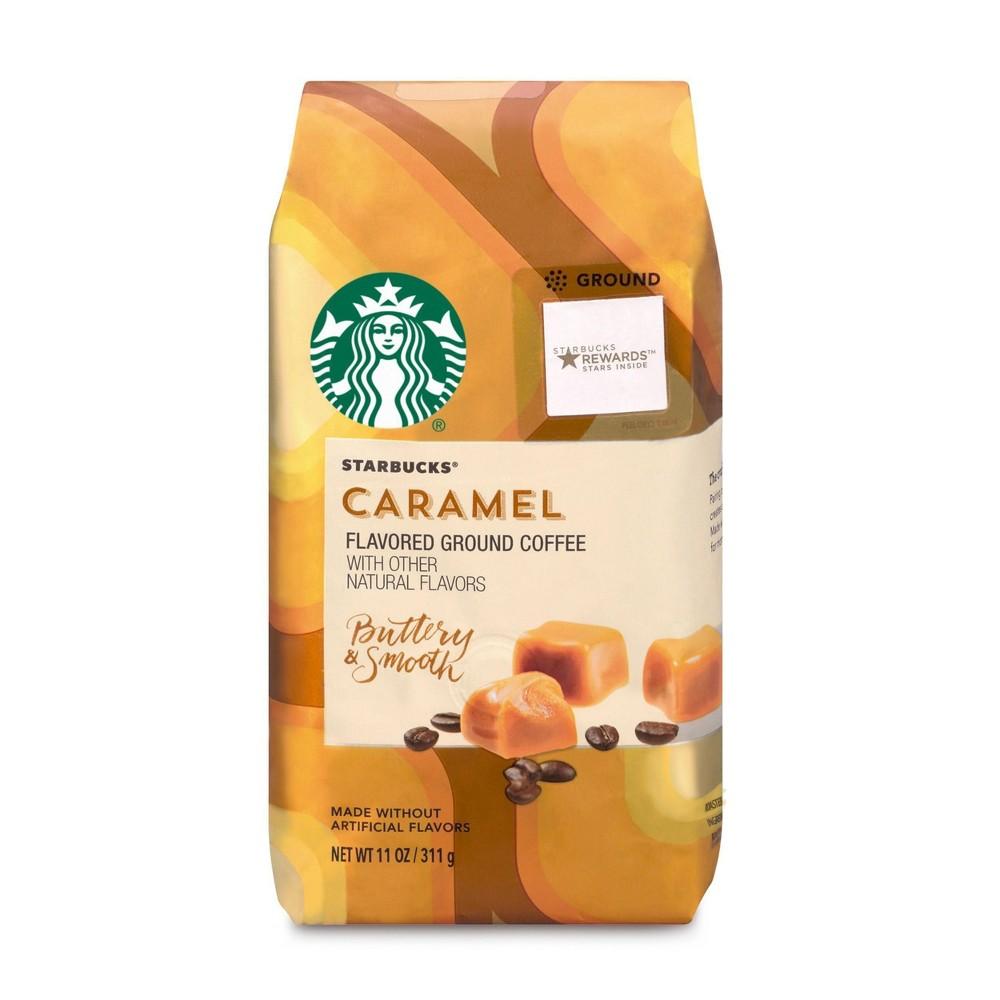 Starbucks Caramel Flavored Medium Roast Ground Coffee 11oz