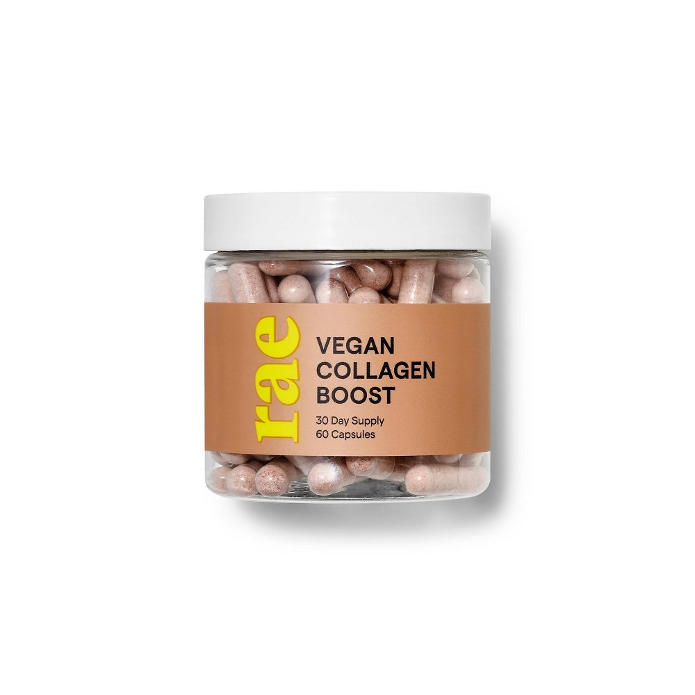 Image of Rae Vegan Collagen Boost Dietary Supplement Capsules - 60ct