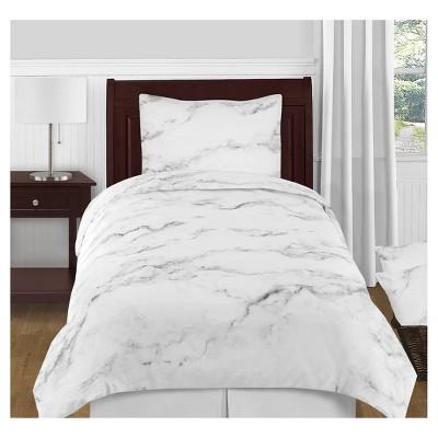 Black & White Marble Comforter Set (Twin) - Sweet Jojo Designs