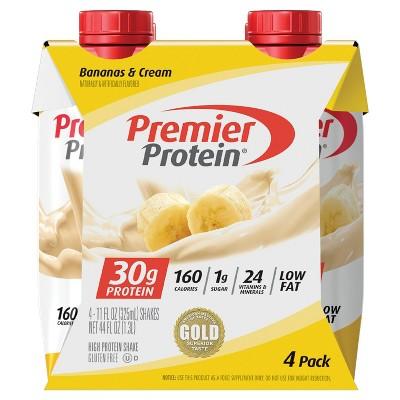 Premier Protein Shakes - Banana - 11 fl oz/4ct Bottles
