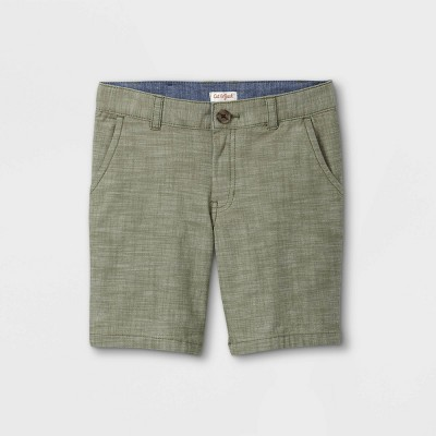 Boys' Flat Front Chino Shorts - Cat & Jack™ Green