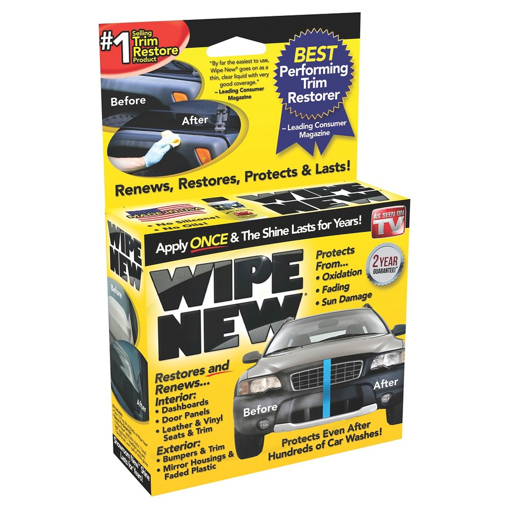 As Seen On Tv Wipe New Trim Restorer 38 Automotive Protector