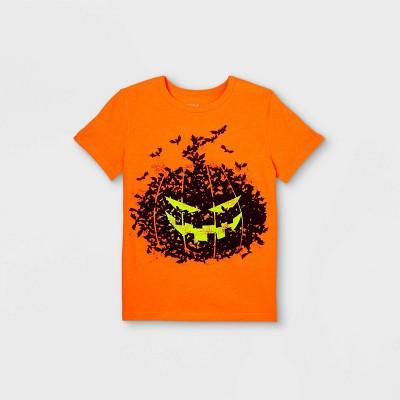 Boys' Adaptive Printed Graphic T-Shirt - Cat & Jack™ Orange