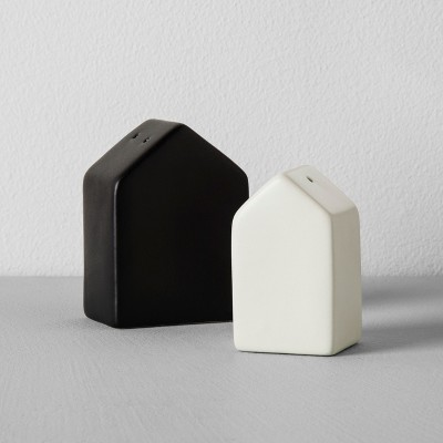 House Salt and Pepper Shaker Set (2pc)- Black/Cream - Hearth & Hand™ with Magnolia