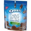 Oreo Thins Bites Fudge Dipped Mint Creme Sandwich Cookies - 6oz - image 4 of 4
