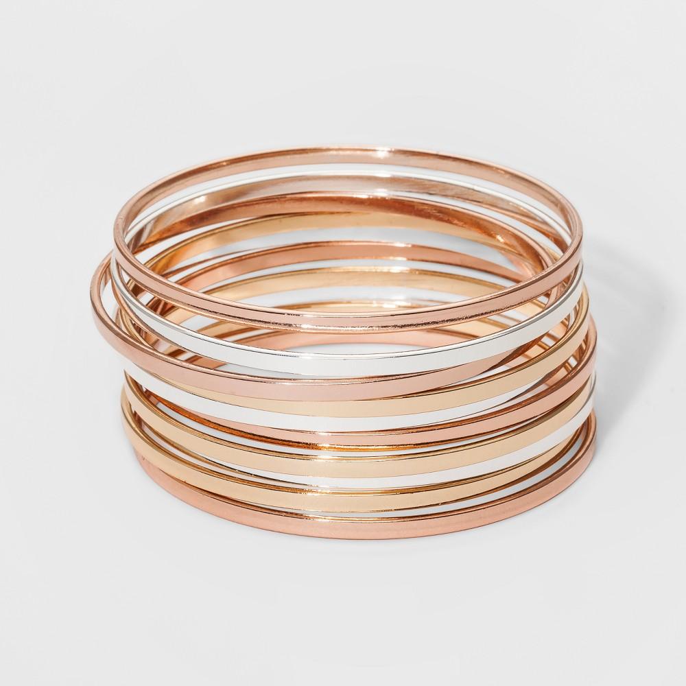 Bangle Bracelet 10pc - A New Day, Multi-Colored