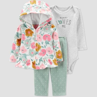 Baby Girls' Floral Top & Bottom Set - Just One You® made by carter's Pink/Green 3M