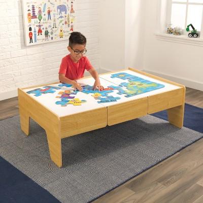 KidKraft Wooden Train Table   Natural : Target
