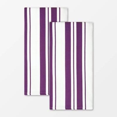 2pk Cotton Striped Dish Towels - MU Kitchen