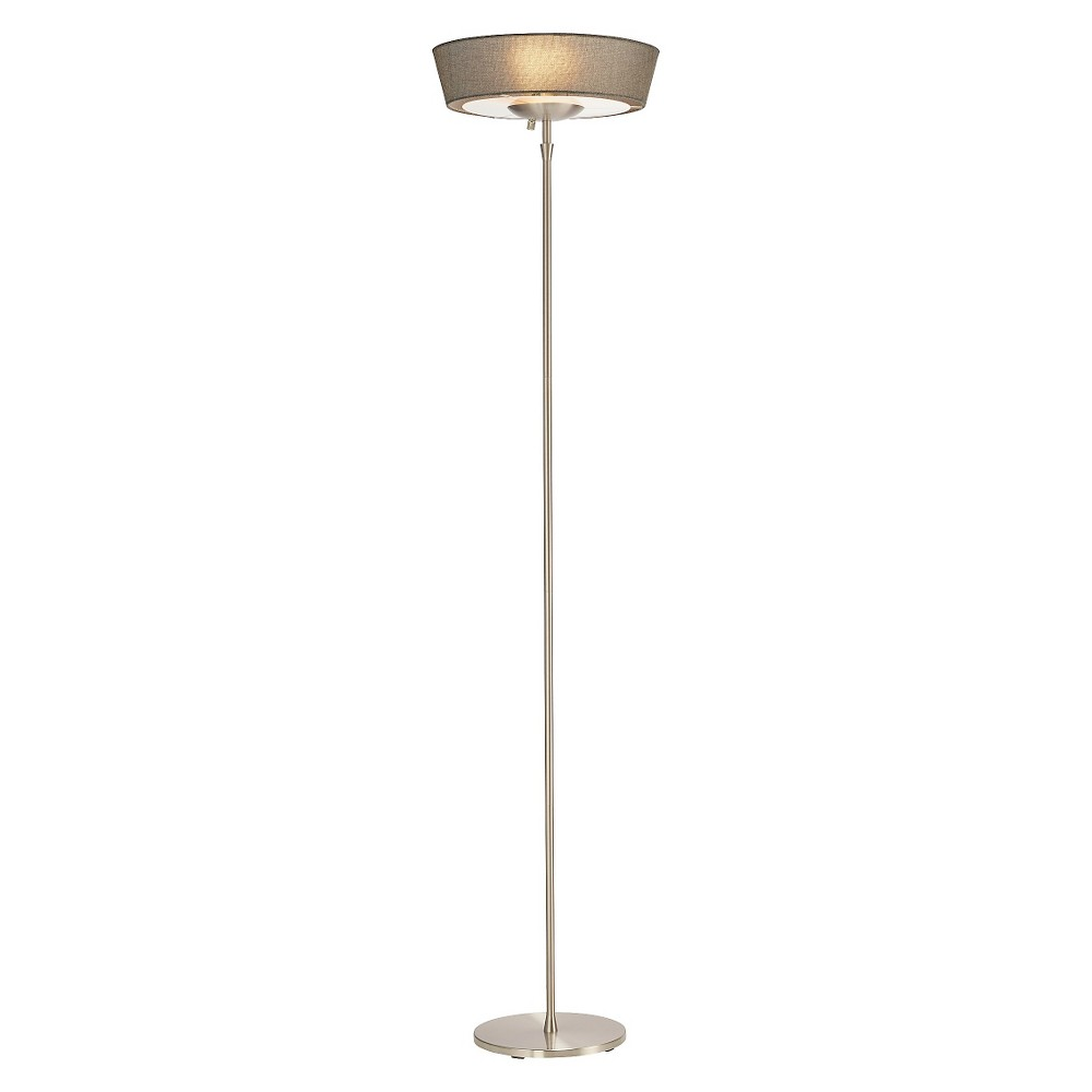 Adesso Harper Floor Lamp - Silver (Lamp Only)
