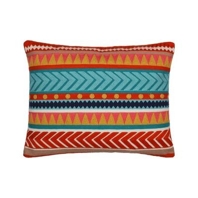 Veranda Embroidered Stripe Decorative Pillow - Levtex Home