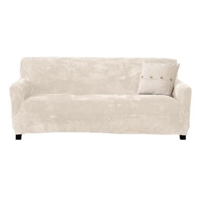 Great Bay Home Stretch Fit Velvet Sofa Slipcover