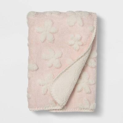 Plush Stroller Blanket Daisy - Cloud Island™ Pink