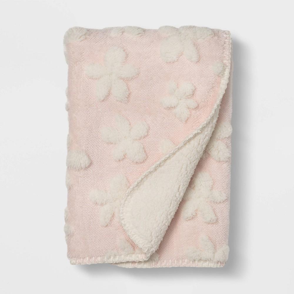Plush Stroller Blanket Daisy Cloud Island 8482 Pink
